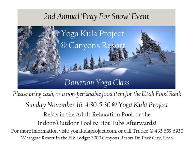 Pray for Snow Event